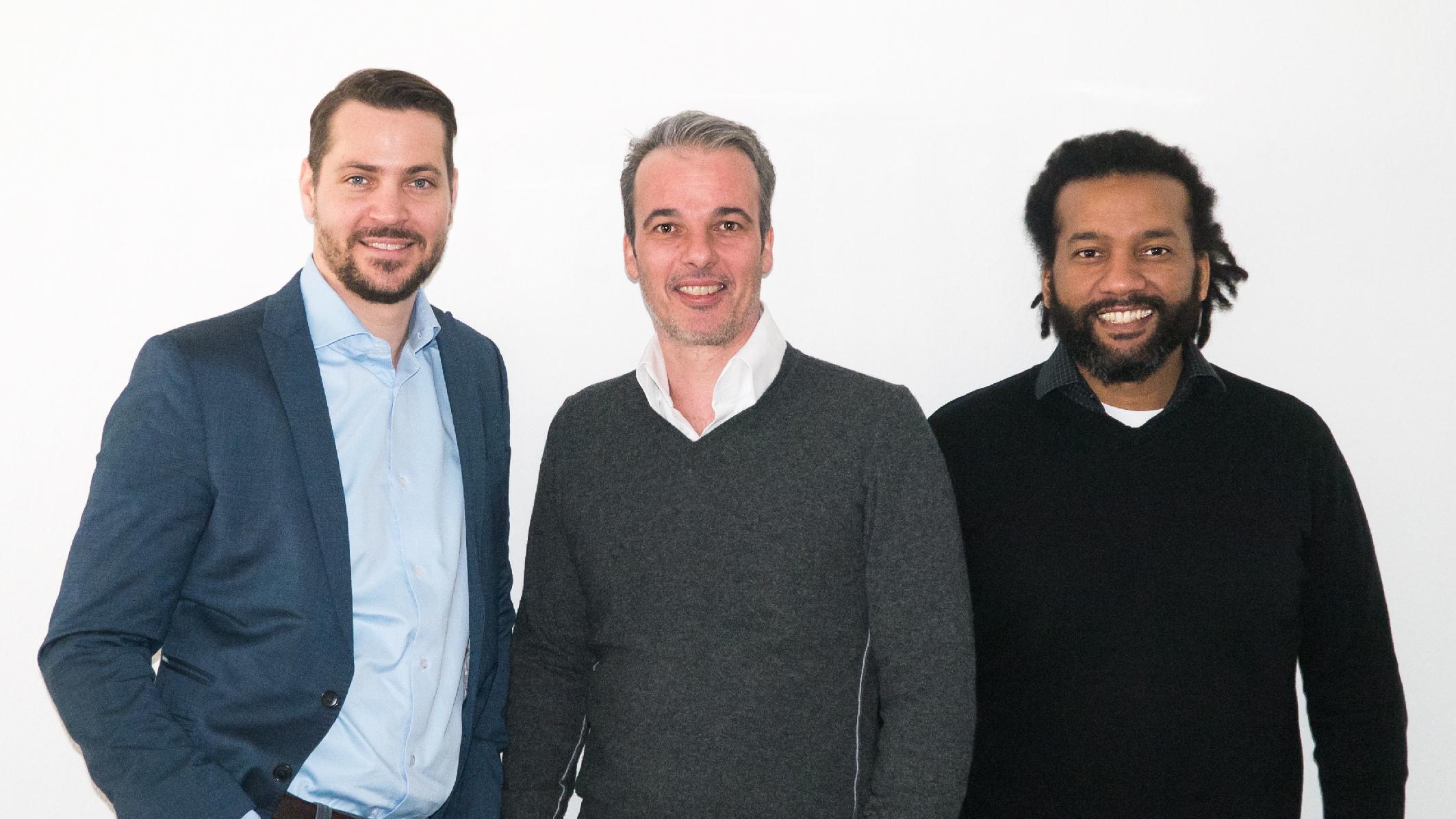 Gruender iduwi v.l.n.r. Christian Kaldewei, Stefan Frei, Alain Yimbou