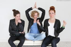 Pausenkicker GesundheitsEntertainment Trainer Lena, Sina und Katrin Fotografin Lilli Lafeld