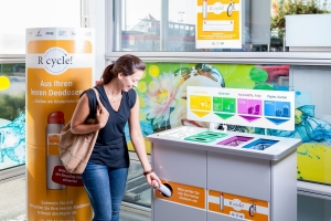 Deodosen Recyclingstation - medres Unilever