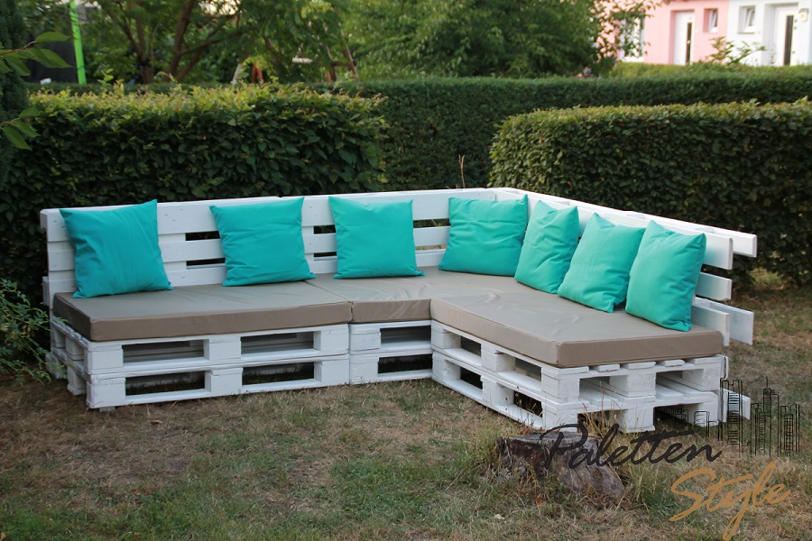 europaletten sofa bauen – motelindio, Terrassen ideen