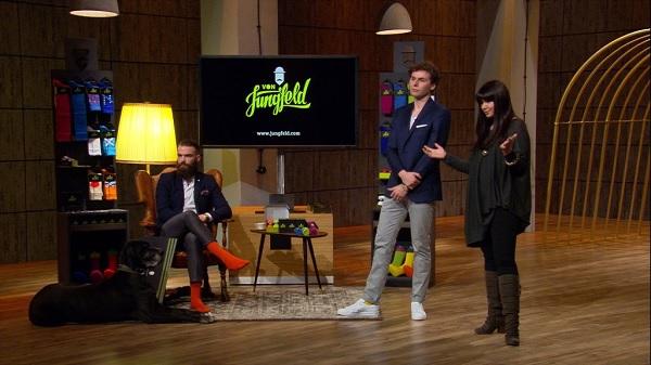 Maria Pentschev und Lucas Pulcert stellen ihr StartUp Von Jungfeld vor (c) VOX Sony