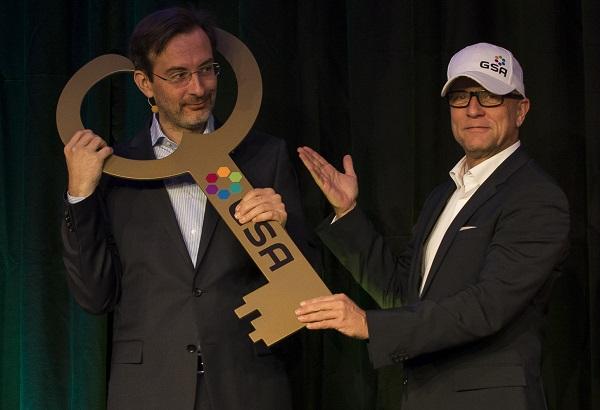 Martin Laschkolnig, neuer GSA Präsident 2015-2017 (links) und Andreas Buhr, immediate Past President der GSA.