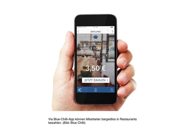Blue Chilli App Zahlung