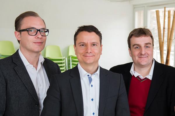Gründerteam Erste Digital v.l.n.r. Achim Hepp, Armin Molla und Christian Berlage Bildquelle Simon Bierwald
