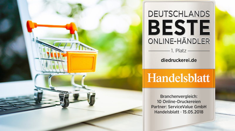 "diedruckerei.de zum dritten Mal ""Bester Online-Händler"""