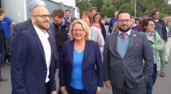 Svenja Schulze und Alexander Bonde besuchen Startups