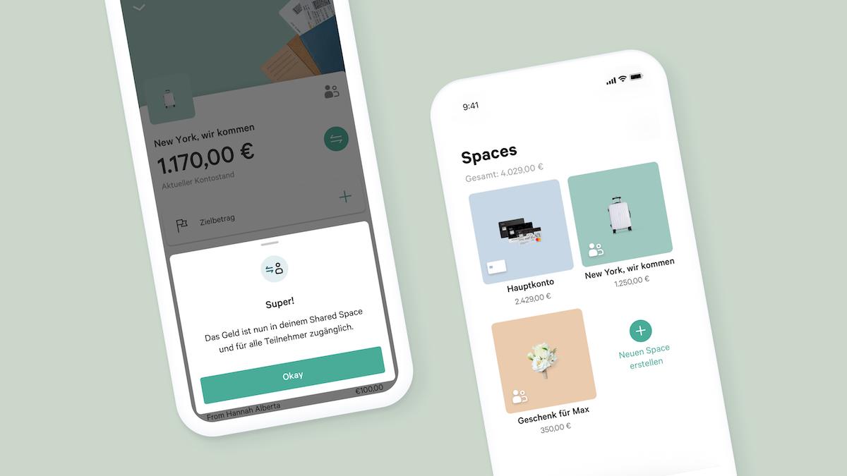 N26 führt Shared Spaces Finanzen