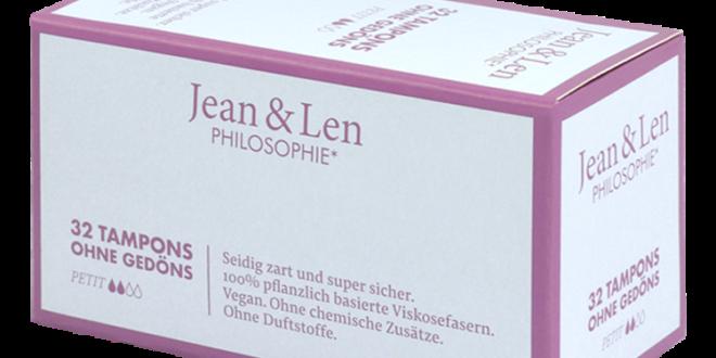 Umweltfreundliche Tampons von Jean&Len