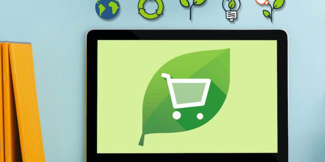 Warenkorb wird grün: Kunden bestellen nachhaltige Produkte.Kunden erwarten von Shops im Internet eine nahezu grenzenlose Produktvielfalt.