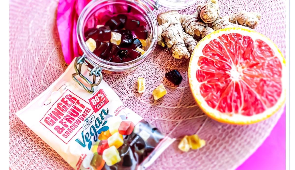 Vegane Gummies Ginger und Fruit oder Smoothie-Gummies